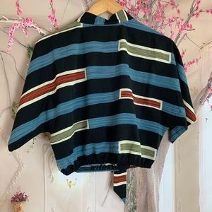 Nasty Gal Tops - Nasty Gal Collection Striped Crop Blouse